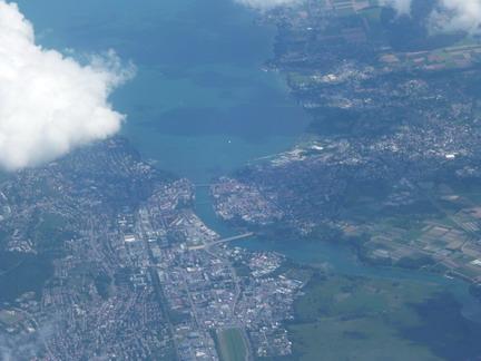 Konstanz am Bodensee, Luftaufnahme. (c) Eitelhuber